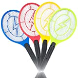 Fencia Handheld Electronic Mosquito Bug Zapper Fly Swatter Racket LED Light Indicator