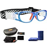 Ponosoon Sports Goggles Glasses for KIDS for Basketball Football Volleyball 1812(Transparent Blue)