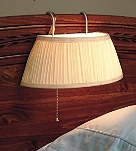 TRM Headboard Lamp, White, Single