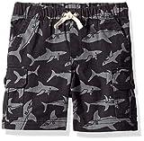 Amazon Essentials Little Boys' Cargo Short, Shark Block Dark Grey, S (6-7)