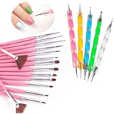 Yimart® 20pcs/set Nail Art Design Drawing Brushes Dotting Pens