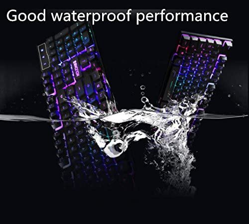Backlit Gaming Wired Keyboard,Mechanical Feel//USB Interface for Home use-B