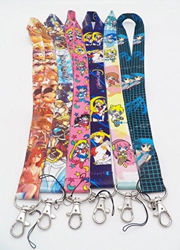 6 Assorted Anime Sailor Moon Miku Kaito Phone Key Chain Strap LANYARD Set #15 (Kaito Set)