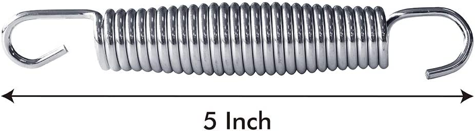 20pcs-Pack Eurmax Trampoline Springs 20pcs Galvanized Steel Replacement Spring with Trampoline Springs T Hook