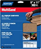 Norton 47735 Multisand Sandpaper 100 Grit, 9-Inch x 11-Inch, 5-Pack