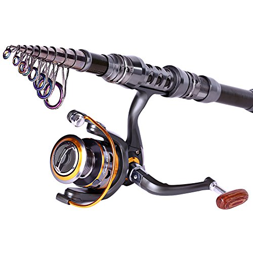 Sougayilang portable telescopic fishing rod with reel for Best spinning reel for bass fishing
