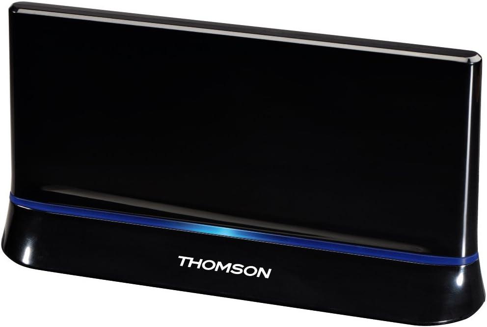 THOMSON 00131917 - Antena de Interior amplificada (HDTV, 3D, 43 dB), Color Negro