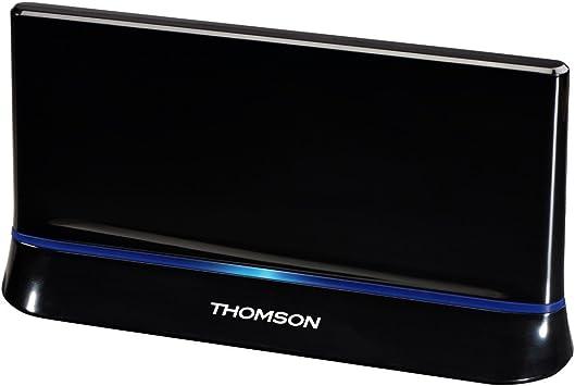 THOMSON 00131917 - Antena de Interior amplificada (HDTV, 3D, 43 dB), Color Negro: Amazon.es: Informática