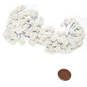 144 Silk Mini Wrap Roses Wedding Shower Flower Picks - Ivory 12