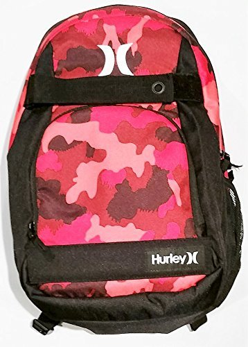 4e18945237 Hurley Honor Roll Printed Backpack (Very Berry/White)