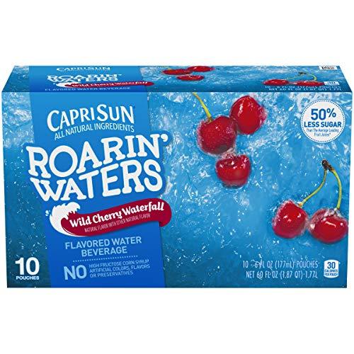 (Capri Sun, Ready-To-Drink, Roarin' Water Wild Cherry, 6 oz, 10 ct.)