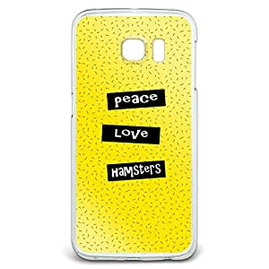 Peace Love Hamsters Snap On Hard Protective Case for Samsung Galaxy S6 Edge