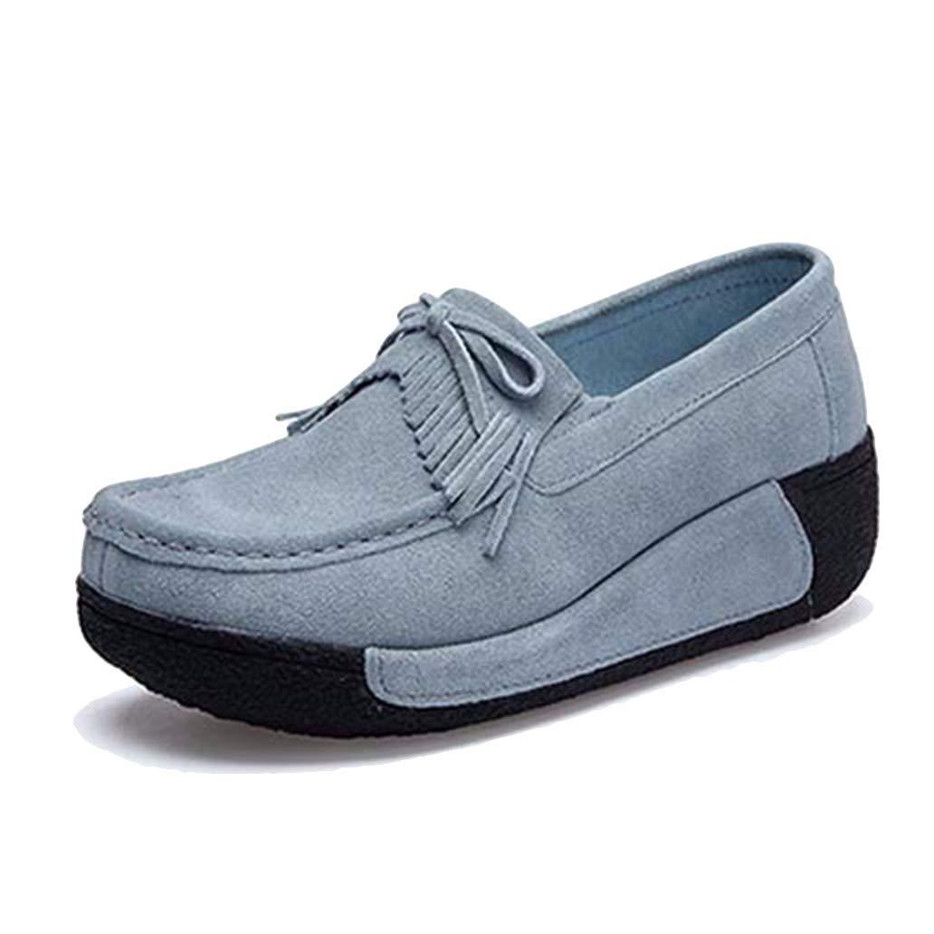 York Zhu Women Flat Platform Loafers Women Tassel Moccasin Casual Shoes