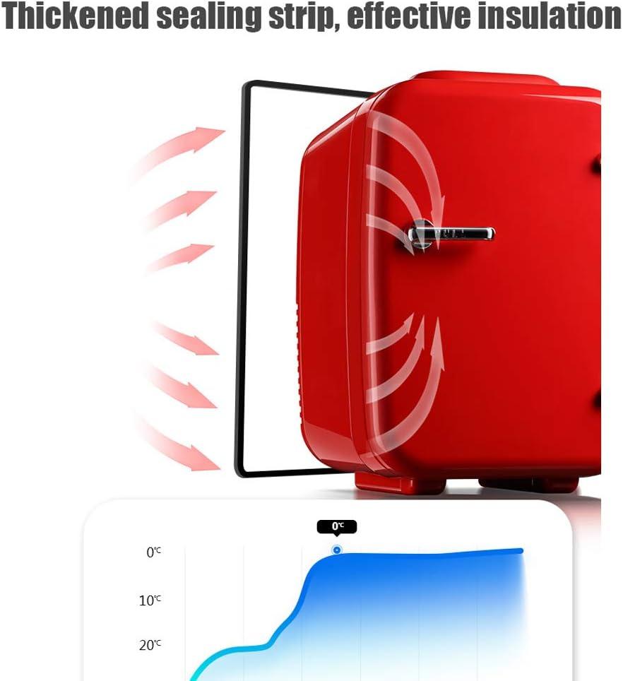 Uso del autom/óvil Refrigerador portatil Lxn Mini Nevera 4L Mute Reefer Cooler Box and Warmer 6 latas de 330ml (Rojo)