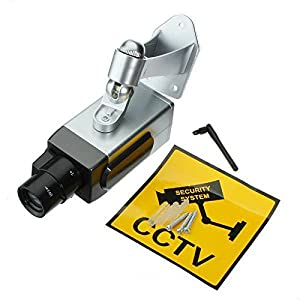 Security Camera - TOOGOO(R) Wireless PTZ IP Fake Dummy Rotation Camera CCTV Security Camera Night Vision Silver