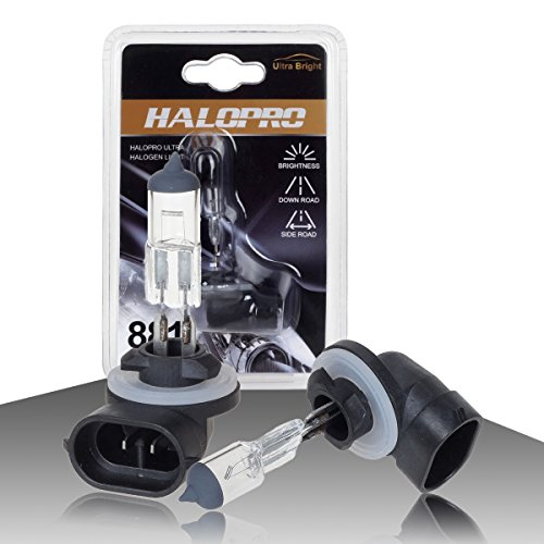 HaloPro Basic2pcs 881 12V 27W Halogen Fog Driving Light Bulb 3000-4000K Night White 400-600LM For 1995-2013 Hyundai /2003-2013 KIA /Chevrolet Cavalier 1996-1999