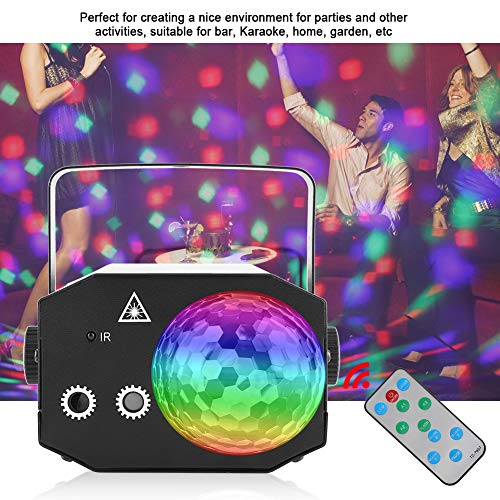 Acogedor Christmas Sound Activated LED DJ Party Lights, Rotating Colorful LED RGB Stage Light Disco Ball Disco Lights for Home Room Dance Parties Bar Karaoke Xmas Wedding Show Club