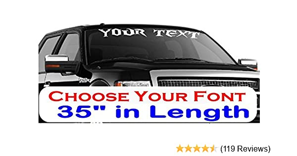 7f643cef01 Amazon.com  CustomDecal US 35-Inch Personalized Name Vinyl Decal ...