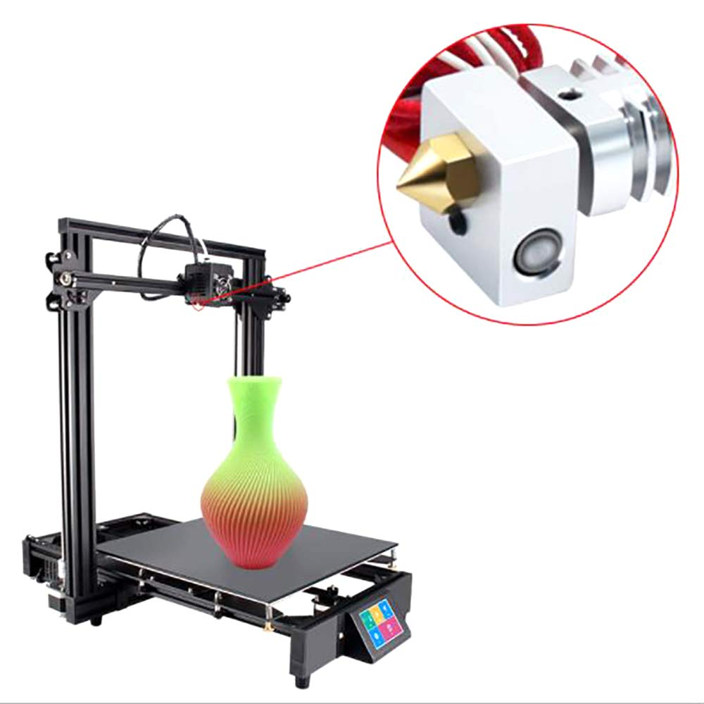 Magiin 30 St/ück 3D Drucker Extruder D/üse MK8 0.4mm Extruder Drucker D/üse f/ür 3D Drucker Makerbot Creality CR-10