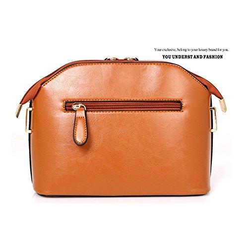 Mujer Set desgastado bolsos Xagoo de mano 4 en 1 sistema puro oficina Bolsa (Estilo 2) Estilo 1