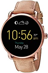 Q Wander is our everyday digital display watch that connects seamlessly to your phone. Strapped in smooth leather, the tech-savvy dial with touchscreen functionality includes the all-new Wear OS by Google's interactive dials (for info at a gl...