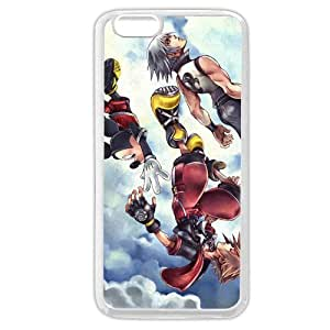 """UniqueBox Customized White Soft Rubber(TPU) Kingdom Hearts iPhone 6 4.7 Case, Only fit iPhone 6 4.7"""""""