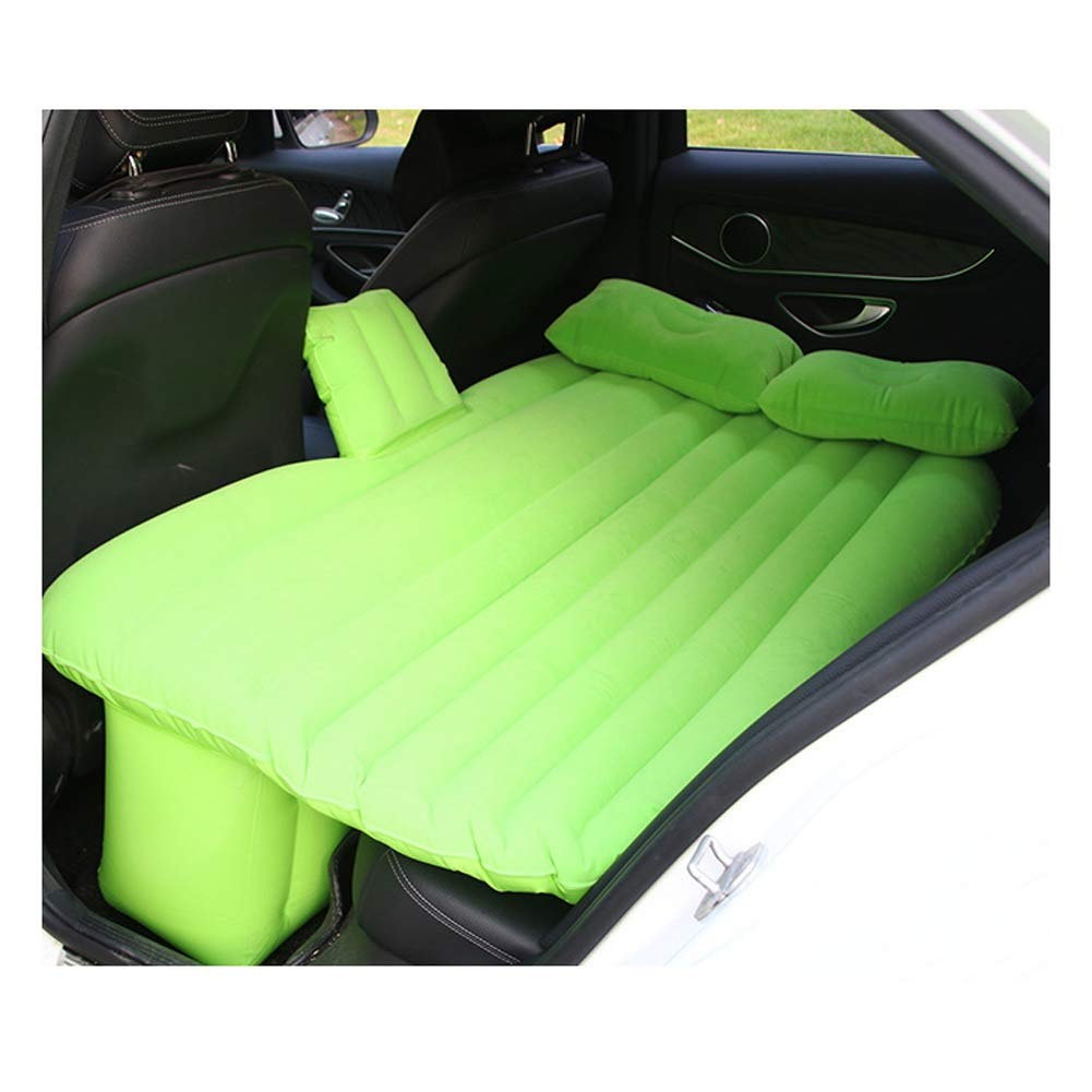 Car Inflatable Bed Flocking Car Air Bed Outdoor Camping Air Mattress for Self-Driving Sofa, Auto Accessories CIM0929 (Color : Green) by ZCY-Auto Mattress