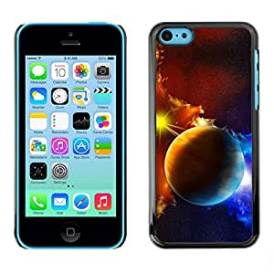 Be Good Phone Accessory // Dura Cáscara cubierta Protectora Caso Carcasa Funda de Protección para Apple Iphone 5C // Planets Galaxy Gas Clouds Star Sun Blue Yellow