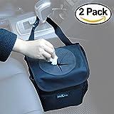 Big Ant Car Trash Bag Car Trash Bag for Little Leak Proof – Car Garbage Bag with Lid and Storage Pockets(2 Pack)