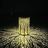 LEDMOMO Outdoor Lantern, Solar Lantern Cylindrical Forest Hanging Solar Light Waterproof Solar Light for Patio Courtyard Garden