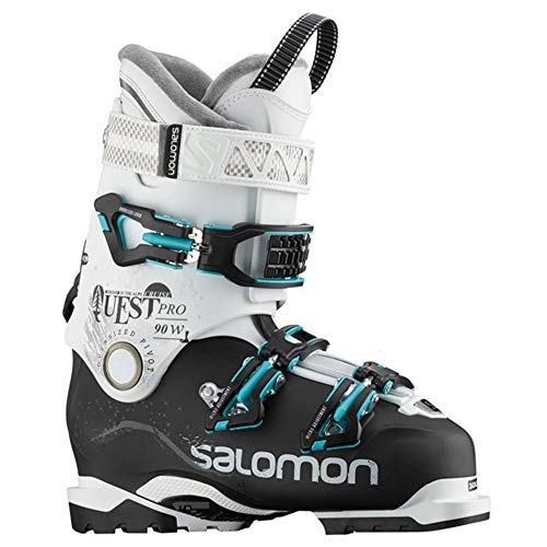 Salomon Quest Pro Cruise 90 W Womens Ski Boots - 26.5/Black-White-Aqua Blue