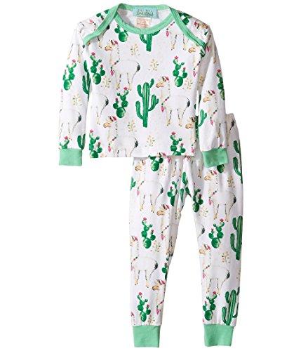 BedHead Kids Unisex Booboo Long Sleeve Two-Piece Pajama Set (Infant) Llama Cactus Pajama Set