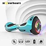 """Hoverboard UL 2272 Certified Flash Wheel 6.5"""" Bluetooth Speaker with LED Light Self Balancing Wheel Electric Scooter (Chrome Turquoise)"""
