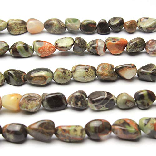 MJDCB Natural Irregular Shape Stone Beads 6-8mm Ocean Jasper Gemstone Energy Cured for Jewelry Making Necklaces