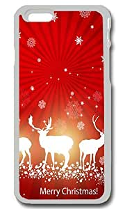 Country Merry Christmas Personalized Custom iPhone 6 Case Cover - PC Transparent