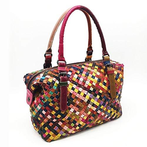 Sheep Colour Genuino Book Tot Women Cuero Bolso Color Men Free Luggage Retazos Bag Leather Ladies De Black Hemotrade color wB4zq1B