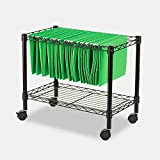 Portable Locking File Cabinet Organizer Rails Open Rolling Metal Mobile Large Home Storage Black & eBook by MSS