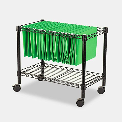 Portable Locking File Cabinet Organizer Rails Open Rolling Metal Mobile Large Home Storage Black & eBook by MSS by STS SUPPLIES LTD