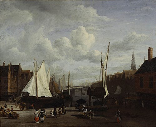 The Perfect Effect Canvas Of Oil Painting Jacob Van Ruisdael   Quay At Amsterdam  C  1670  Size  20X25 Inch   51X63 Cm  This Best Price Art Decorative Canvas Prints Is Fit For Home Office Decor And Home Decor And Gifts