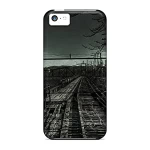 High Quality Old Railroad Skin Cases Covers Specially Designed For Iphone - 5c hjbrhga1544