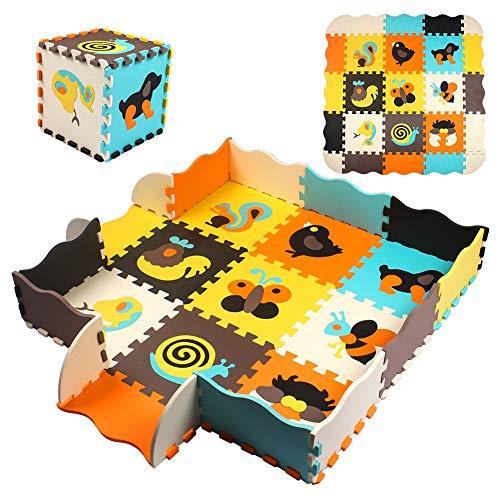Swonuk Speelmat, 180 x 120 cm, opvouwbaar, grote anti-slip, kruipmat, dubbelzijdige speelbaar, baby peuter crawl mat…
