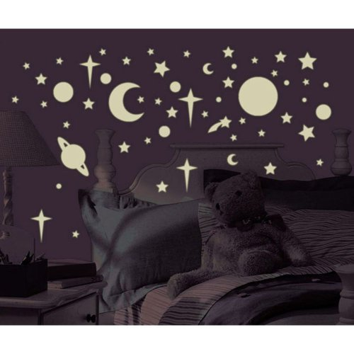 Cheap  258 New Glow in the Dark STARS SUNS PLANETS WALL DECALS Kids..