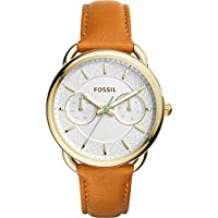 Fossil Tailor Multifunction Leather Watc...