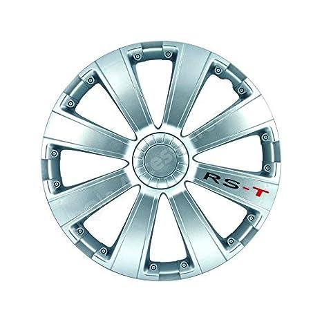 Tapacubo 14 pulgadas plata RST-Juego de Tapacubos 4 unidades: Amazon.es: Coche y moto