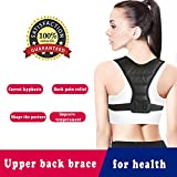 Upper Back Brace Support for Women&Men,The Best Kids Posture Corrector,Adjustable Breathable Clavicle Braces Strap for Slouching&Hunching -Shoulder Pain Relief,Improve Thoracic Kyphosis