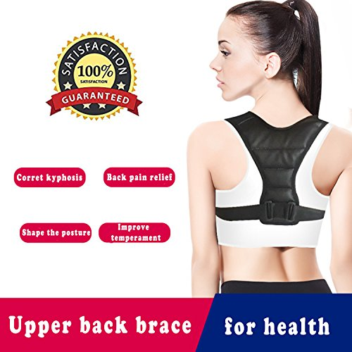 Upper Back Brace Support for Women&Men,The Best Kids Posture Corrector,Adjustable Breathable Clavicle Braces Strap for Slouching&Hunching -Shoulder Pain Relief,Improve Thoracic Kyphosis by Mcrofoot