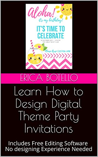 Amazon Com Learn How To Design Digital Theme Party Invitations