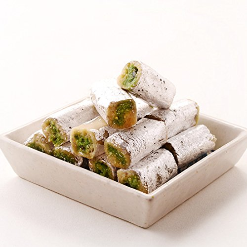 Kandoi Bhogilal Mulchand (Ahmedabad) Kaju Pista Roll Fresh Indian Sweet Mithai (Pista Roll)