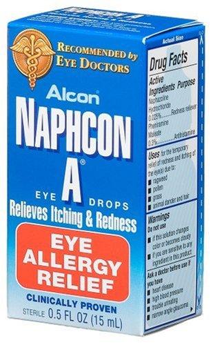 Gouttes Alcon Naphcon-A Allergy Relief Eye, bouteilles de 0,5 onces (Pack de 2)