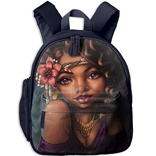 Africa Woman Double Zipper Waterproof Children Schoolbag Backpacks With Front Pockets For Teens Boy Girl by TPXYJOF